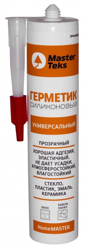 Герметик универсальный силиконовый MasterTeks HM 0,26 прозрачный 9612921 купить в Стерлитамаке по низкой цене - Стройландия